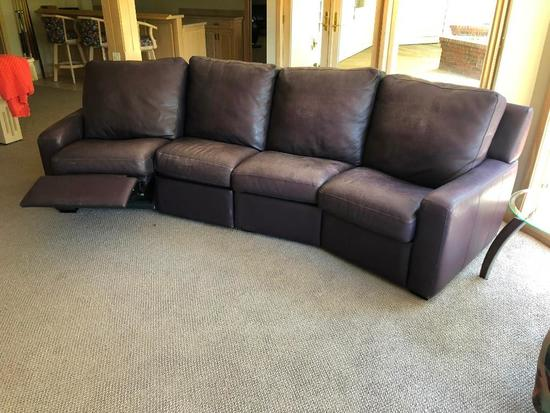 American Leather - Leather Sectional Couch w/ Reclining Ends