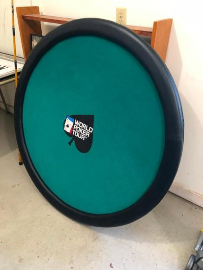 Folding World Poker Tour Poker Table w/ Folding Legs & Felt