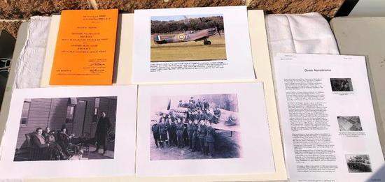 Photographs and Spitfire Notebook, Pilot's Notes, Spitfire VA, VB & VC Aircraft