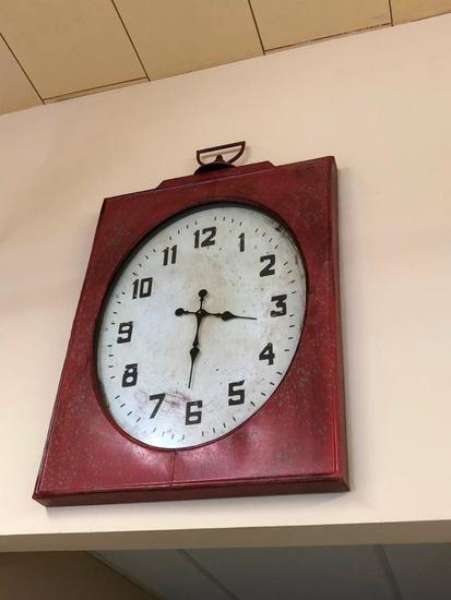 Rustic Style Wall Clock, 24in x 36in