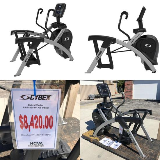 CYBEX R SERIES TOTAL BODY 50L ARC TRAINER - New Assembled (New Retail: $8,420.00)