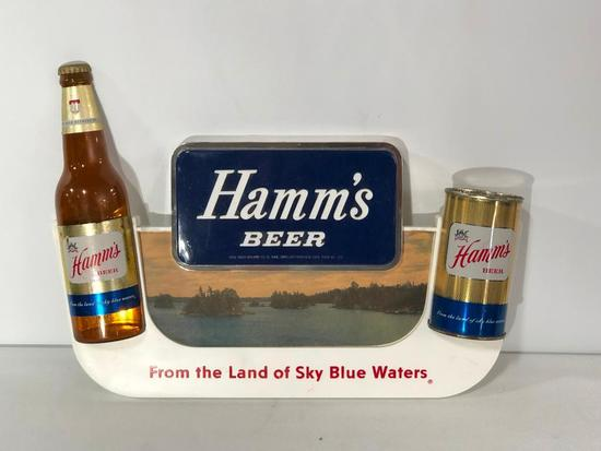 Hamm's Beer 3-D Advertising Sign, Bottle and Can, by Lakeside Plastics