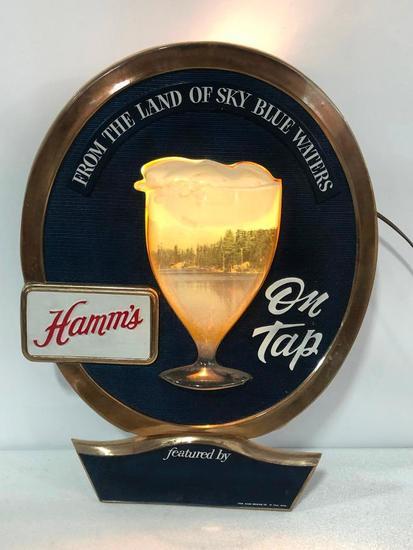 Hamm's Beer on Tap Lighted Beer Sign, Chalet