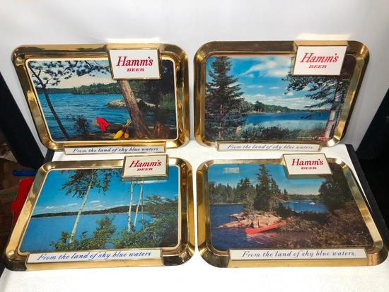 Lot of 4 Hamm's Beer Signs