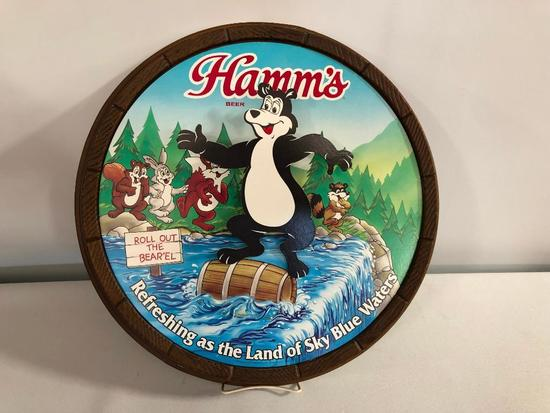 Hamm's Roll Out The Barrel Dancing Bear Hamm's Beer Bear and Friends Sign