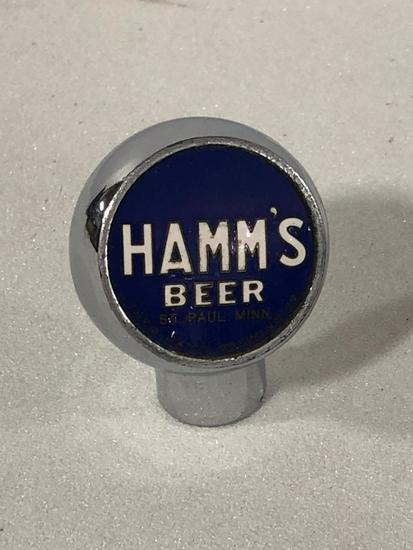 Hamm's Beer Tap Handle, Knob Style, Blue Background, White Letters