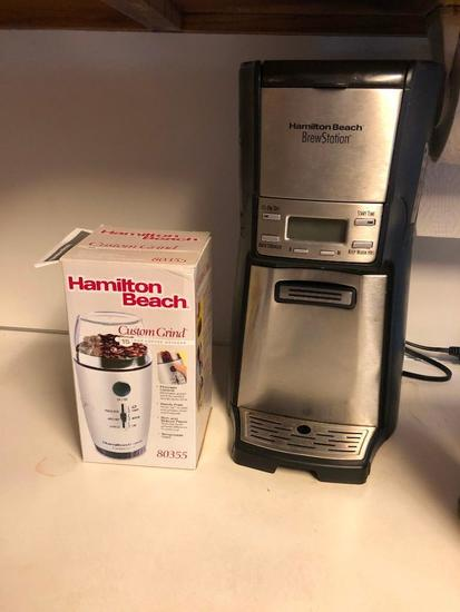Hamilton Beach Brew Station and Coffee Grinder