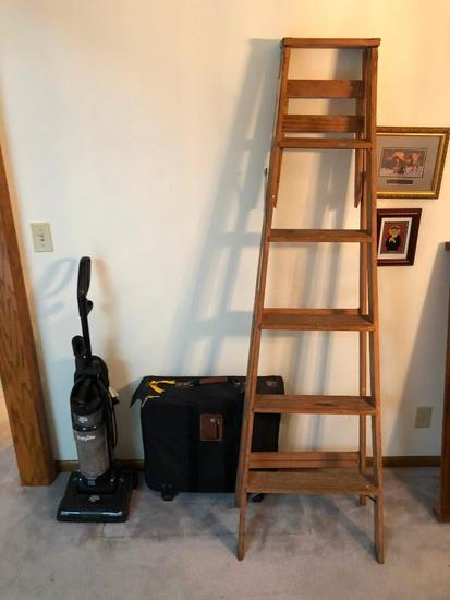 Dirt Devil Vacuum, Step Ladder and Luggage