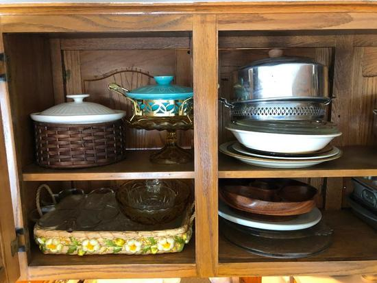 Large Selection of Serving Dishes and Plates