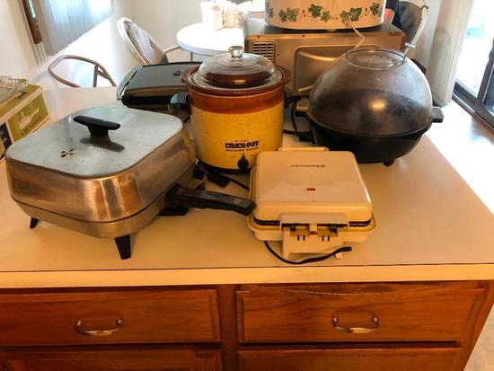 Air Popper, Slow Cooker, Skillet and Sandwich Maker