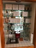 Large Selection of Barware, 16 W.M. Dalton Lead Crystal Goblets, Creighton Soccer Beer Steins