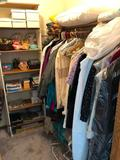 Contents of Closet, Blankets, Toys, Vintage Womens Clothing, Games and Puzzles