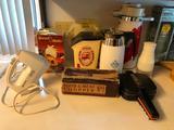 Small Appliances, Hand Mixer, Popcorn Popper, 2 Air Pots , Meat Chopper, Shredder