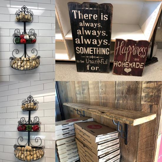 Wall Mounted Decorative Items, Wire Baskets, Message Boards, Shelf