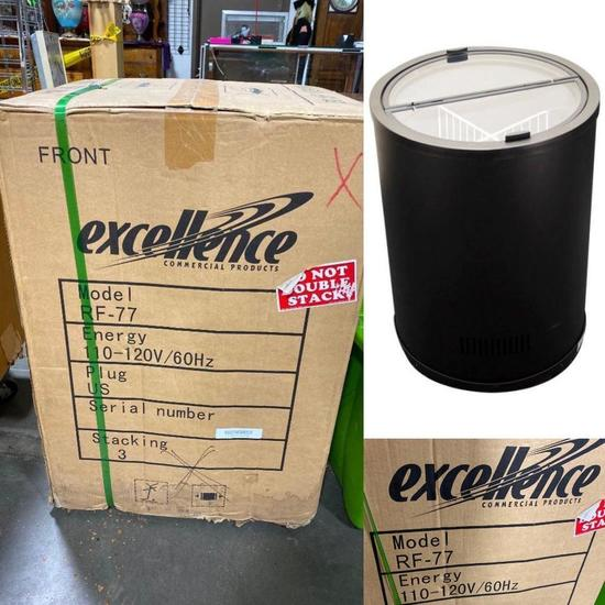 NEW Excellence RF-77 Barrel Ice Cream Freezer 4 Sections 2.5 cu ft (120V) (Retail Price: $895.00)