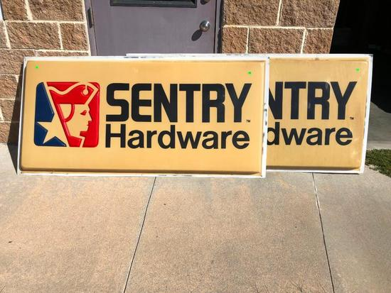 (2) Large Exterior Sentry Hardware Signs - 36in x 72in each