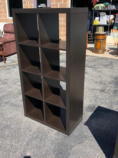 Cube Style Wooden Book Shelf or Storage Shelf, Great for Mudroom