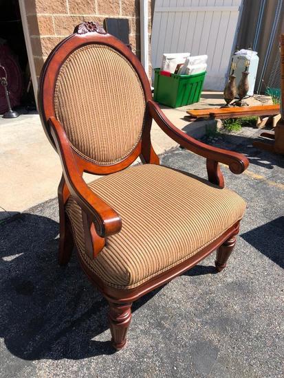 Wooden & Upholsteredd Chair