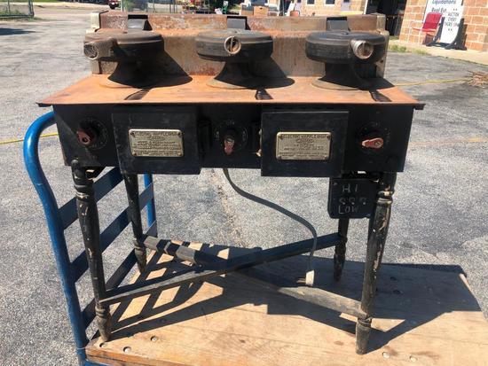 Antique Edison Hotel Electric Waffle Iron