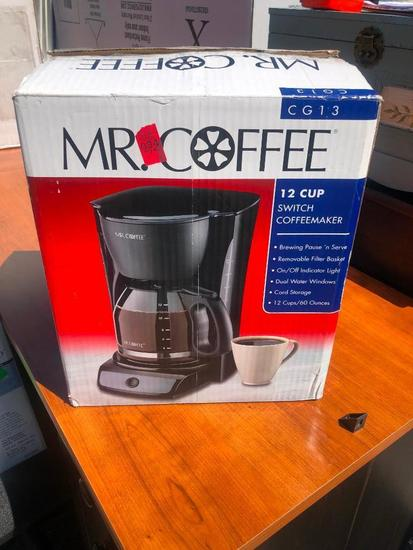 Mr. Coffee 12 Cup Coffee Maker, New in Box