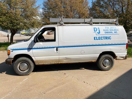 2001 Ford E-350 Super Duty Cargo Van, 183,755 Miles, Automatic, Runs Rough