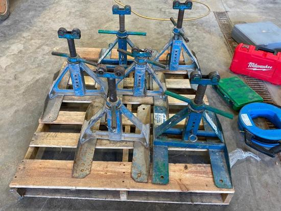 Lot of 6 Industrial Roller Stands
