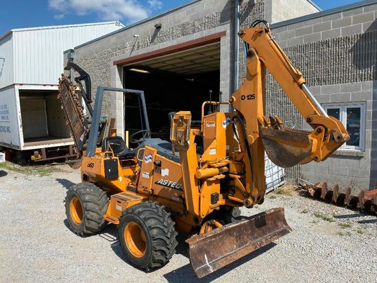 Case Astec Model 560 Model: H939307 Trencher / Model: D125 Backhoe 1,548 hrs