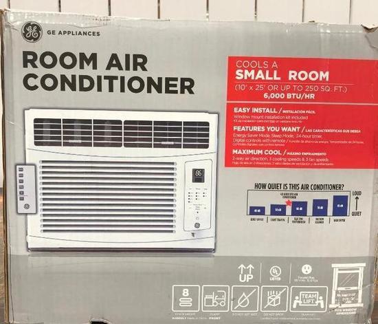 GE Room Air Conditioner w/ Remote, 6,000BTU/hr, Model: AHQ06LY