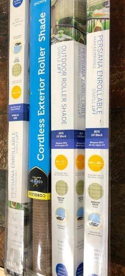 Persiana Enrollable Shades (3) / Cordless Exterior Roller Shade (1)