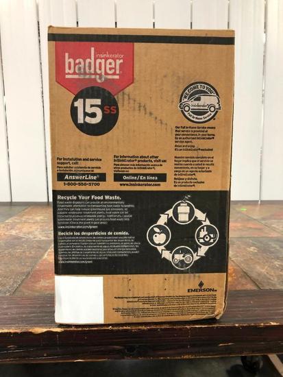 Badger Insinkerator 15SS Polished Stainless Sink Flange & Stopper