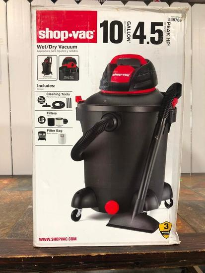 Shop Vac Wet/Dry Vacuum 10 Gallon, 4.5 Peak HP