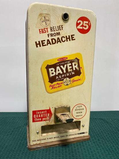 Bayer Headache Medicine Coin-Operated Pill Packet Dispenser, No Key