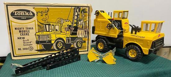 NOS Mighty Tonka Mobile Crane No. 3940 w/ Original Box