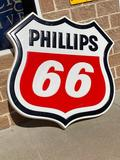 Lighted Phillips 66 Exterior Filling Station Sign