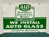 Porcelain Sign DSP A.I.D. Autoglass Installation Dealer Pittsburg Plate Glass Co. 36in x 24in