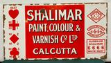 Porcelain Sign, Shalimar Paint Colour & Varnish Calcutta SSP40in x 21in