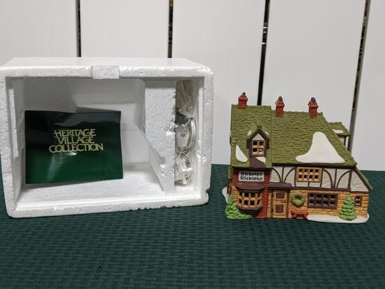 """Dickens Village Series-Department 56 -Nicholas Nickerly """"Cottage"""" (The Heritage Village Collection"""