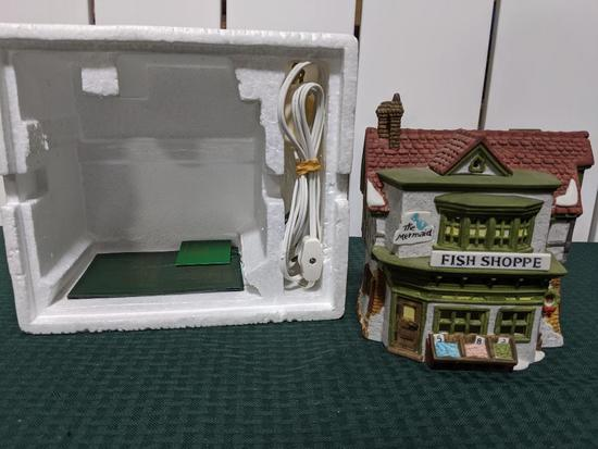 Dickens Village Series-Department 56 -The Mermaid Fish Shoppe (The Heritage Village Collection