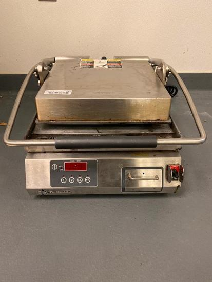 Star Mfg. Model: PST14E Commercial Panini Press w/ Alum. Smooth Plates