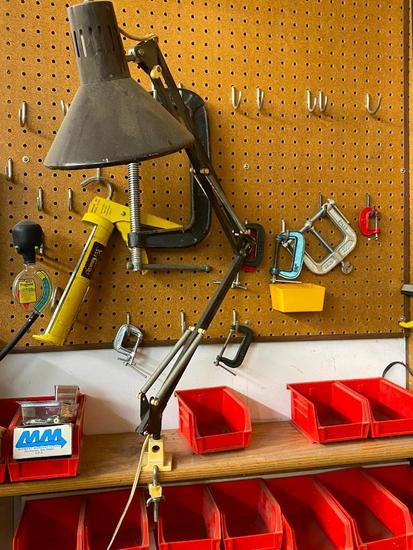 Work Light, 9 - C-Clamps