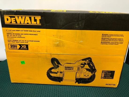 Dewalt Cordless Battery Operated 5in Deep Cut Band Saw (Battery/Charger Sold Separately) #14725