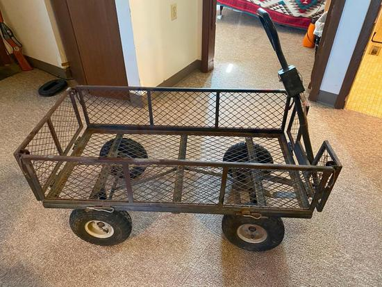 Wire Mesh Utility Wagon/Cart