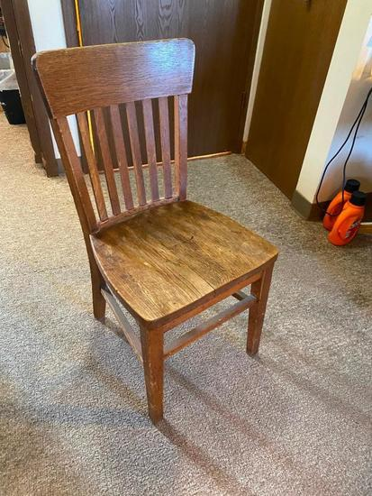 Antique Mission Style Oak Chair