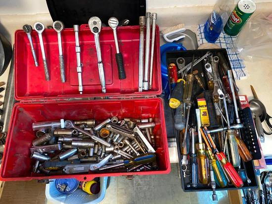 Toolbox Full of HD Sockets and Ratchets