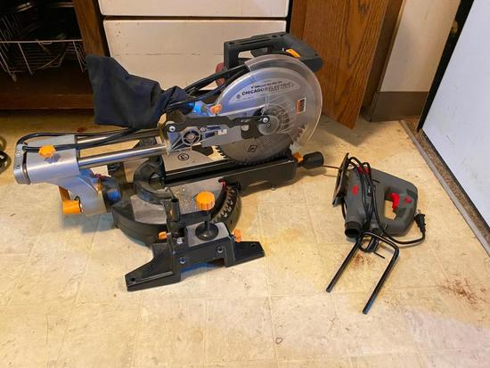 Miter Saw, Sabre Saw, Brad Nailer, Heat Gun, Battery Charger