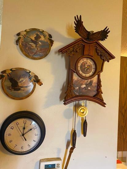 Cuckcoo Clock w/ Native American Theme, Dream Catchers, Clock