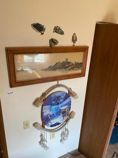 Lot of SW & Native Indian Items, Framed Print, Framed Puzzles