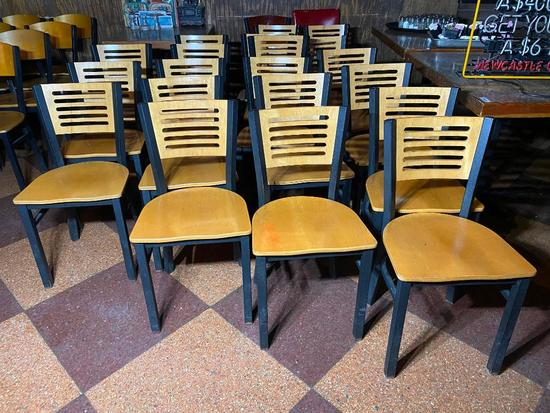 Restaurant Chairs, Wooden Ladder Back, Iron Frame, 20 x's $