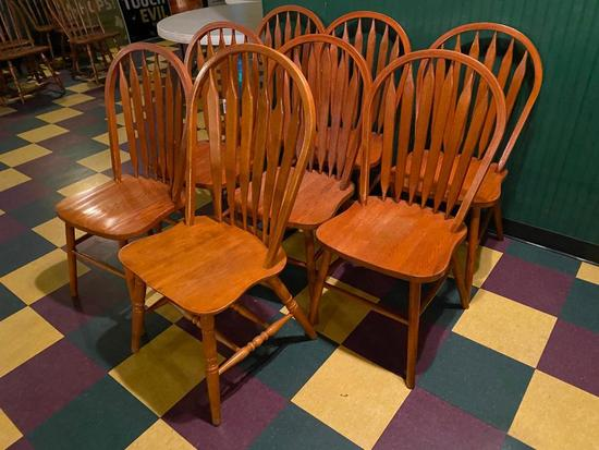 Restaurant Chairs, Solid Wood Windsor Style, 8 x's $