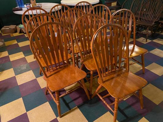 Restaurant Chairs, Solid Wood Windsor Style, 10 x's $